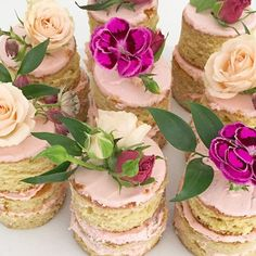 Tiny cakes! #birthday #celebration #cake #blooms #pink #dessert #love #luckybird