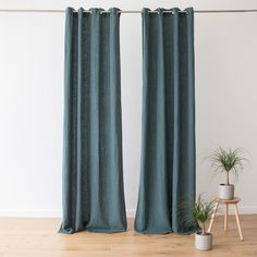 Linen is the ideal fabric for curtains as it hangs beautifully and will last a long time. Thinking to refresh your room: switch your curtains / draipes! Linen Curtains, Curtain Fabric, Linen Fabric, Linen Bedding, Bed Linen, Blue Drapes, Bath Linens, Kitchen Linens, Table Linens