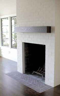 Newest Pic Fireplace Hearth ideas Suggestions A fireplace hearth is actually t… – farmhouse fireplace tile Fireplace Hearth Tiles, Brick Hearth, Fireplace Redo, Farmhouse Fireplace, Fireplace Remodel, Fireplace Design, Fireplace Ideas, Fireplace Makeovers, Brick Fireplaces