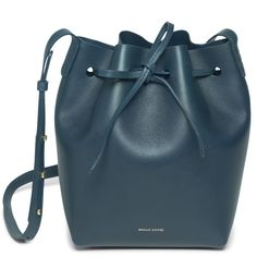 Mansur Gavriel Blu/Blu Mini Bucket bag