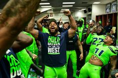Another look at the NFC West Champions Seahawks Football, Nfl Football Teams, Football Memes, Seattle Seahawks, Football Stuff, Sports Teams, Nfc West, 12th Man, Men In Uniform