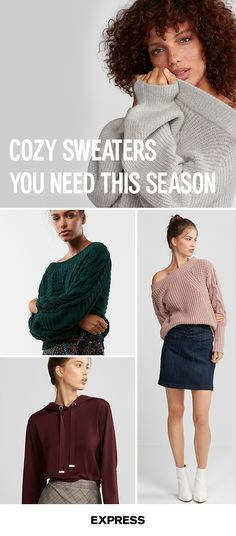 Fall into sweater weather with some seriously cozy layers from Express. Pair them with our girlfriend jeans for a laid back look, or add scuba leggings for a night out with the squad. Shop today at Express.com.