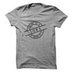 Made In Iowa Stamp Style Logo Symbol Black T-Shirts, Hoodies, Sweatshirts, Tee Shirts (24$ ==► Shopping Now!)