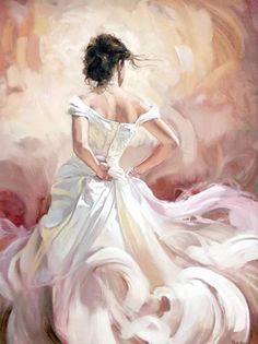 Gentle Flamenco dancer oil painting Canvas Giclee Art Print - Painting - Ideas of Painting Dress Painting, Painting & Drawing, Painting Frames, Diy Painting, Painting Canvas, Art Paintings, Wall Canvas, Canvas Art, Paint By Number Kits