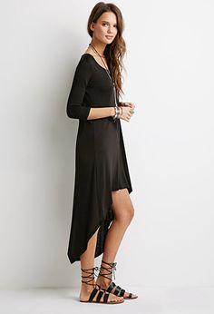 Curved Hem T-Shirt Dress | Forever 21 - 2000077739