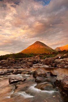 Isle of Skye, Sunset taken in Sligachan with Black Cuillins in background.