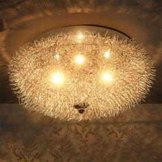 [lux.pro] Plafoniera (3 x base G9)(Ø: 37cm) alluminio intreccio lampada lampadario Mesh 32,90 € Chandelier, Ceiling Lights, Lighting, Home Decor, Light Bulb Vase, Interior Lighting, Pendant Lamps, Bulbs, Glow