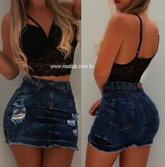 💕MARAVILHOSO💕 Cute Casual Outfits, Swag Outfits, Girly Outfits, Night Outfits, Outfits For Teens, Summer Outfits, Fashion Outfits, Sexy Dresses, Short Dresses