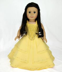 Bella (Beauty and the Beast) movie dress for American Girl doll  #americangirl  #jly55  #beautyandthebeast  #Belle #Disney