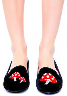 Y.R.U. Lavish Trippy Mushroom Flats | Dolls Kill