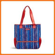 Vera Bradley Preppy Poly NoSo Tote- Retired Prints (Cobalt Stripe) - Shoulder bags (*Amazon Partner-Link)