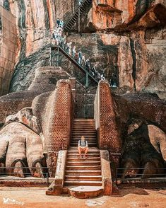 Lion's Gate of Ancient Sri Lankan city Sigiriya,founded by King Kashyapa Whole city is known for its Amazing Rock cut architecture. Sri Lanka Photography, Travel Photography, Arugam Bay, Lions Gate, Urban Planning, West Indies, Travel Abroad, World Heritage Sites, Surfing