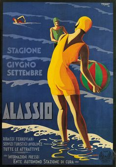 Graphic Design Decor Golden Ray Air Union Travel Poster 1960 Home Wall Art