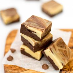 This Peanut Butter & Chocolate Swirl Fudge is loads easier than you think to make! No thermometer needed. Naturally #vegetarian #glutenfree