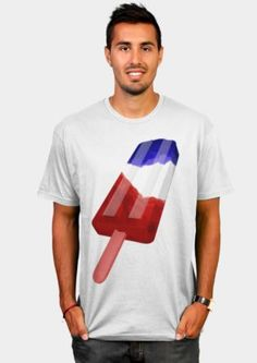 patriotic USA POPSICLE T-SHIRT Being Human Shirts, Cool T Shirts, Usa, How To Make, Mens Tops, Shopping, Design, Fashion, Moda