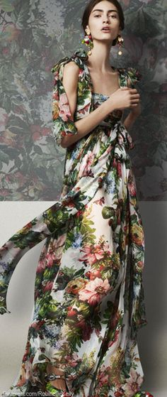 Dolce & Gabanna floral-print dress