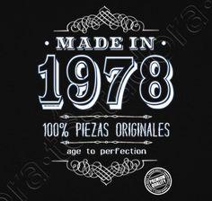 Camiseta Made in 1978. - nº 1196022 - Mujer, manga corta, negra, calidad premium. Camiseta corte regular pero adaptándose perfectamente a la figura femenina. Uso de pigmentos ecológicos. Tejido especial de una suavidad increíble.