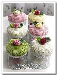 jar toppers or pin cushion by dona agulha