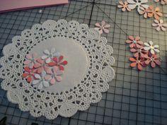 21.レースペーパーを使ってお花いっぱいのカード の画像|簡単手作りカード Chocolate Card Factory
