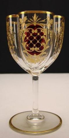 Antique Moser Wine Glass.