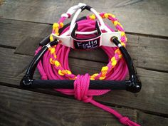 Swivel Skiing set up.  Knotty Girl handle, braid and rope