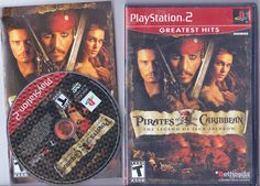 Pirates of the Caribbean Legend of Jack Sparrow Sony PlayStation 2 Video Game #BethesdaSoftworks