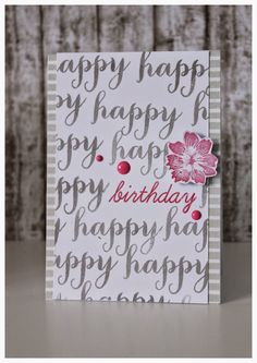 Mit Herz und Schere, Flower, Happy Birthday Card