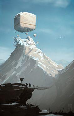 J'aime bien l'idée d'un bâtiment un peu flottant juste au dessus du sol