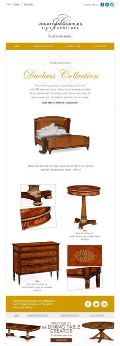 Introduction Duchess Collection #jcfurniture #jonathancharles #Furniture #InteriorDesign #decorex #hpmkt #duchess