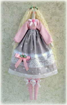 Tilda Doll  Lisa-fabric doll-Cloth doll  rag doll-stuffed doll-подарок для женщины девочки- soft doll-тряпичная кукла тильда handmade doll