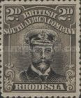 British South Africa Company, 1.9.1913, King George V., No.127, 2P brownish black/grey. Stamped 2,20 USD. Unused 5,49 USD.