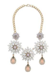 Miss Selfridge WOW Flower Necklace