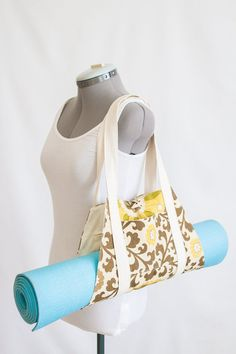 Unique Yoga Mat Carrier by CMarieAndCo on Etsy