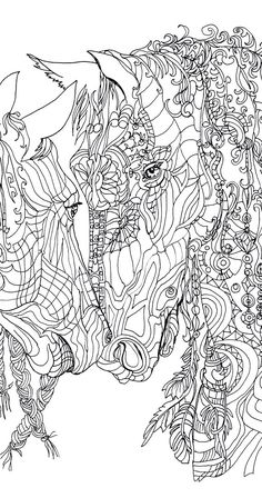 Unicorn Adult Coloring Pages