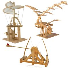 Leonardo da Vinci Catapult, Helicopter, and Ornithopter Kit Set - Building Sets & Blocks. $59.95. Awesome for genius kids!