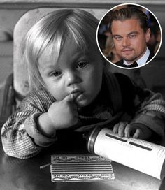 Baby photo of Leonardo DiCaprio in 1975.