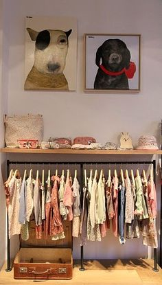 baby clothing storage idea for frugal nursery