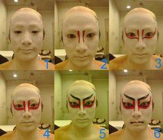 Kabuki makeup by ~nicojay on deviantART