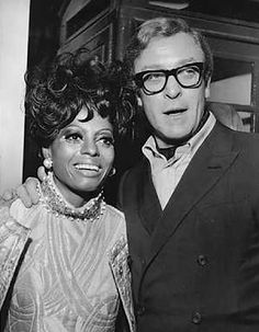 Diana Ross and Michael Caine - London 1968