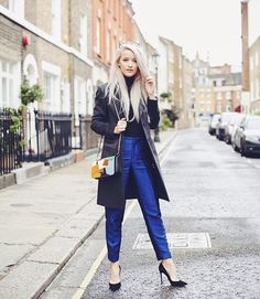 Now on Inthefrow.com! Vibrant blue tailoring @threefloor, a little patchwork @coach 1941 clutch and a beautiful @josephfashion jacket from @veryexclusiveuk for my third outfit of the week (: @amberrosephoto ) Follow my LFW on my snapchat - Inthefrow !  #ITFLFW