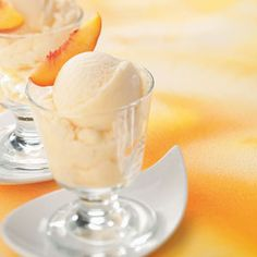 Frozen Peach Yogurt