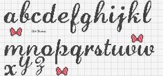Embroidery Alphabets Bracelets Artes e bordados da Sol Embroidery Alphabet, Embroidery Shop, Learn Embroidery, Embroidery Patterns, Cross Stitch Art, Cross Stitch Alphabet, Cross Stitch Designs, Cross Stitch Patterns, Alfabeto Disney