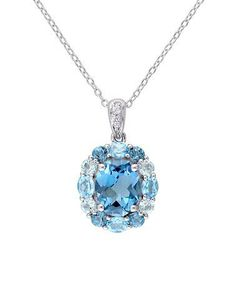 Love this London & Swiss Blue Topaz Oval-Cut Pendant Necklace on #zulily! #zulilyfinds