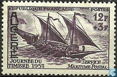 Algeria - Day of the stamp 1957 -//- service maritime postal