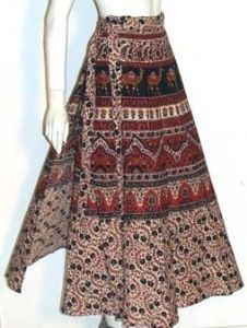 Wrap around skirt. I think mine was exactly like this!