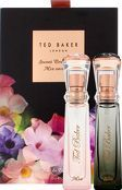 Ted Baker Gifts and Sets Mia and Ella Purse Ted Baker presents a fantastically floral day and night duo of fragrances in Mia and Ella. Mia is an energising everyday fragrance, with notes of freesia, rose blooms, amber and lemon, which oozes wit http://www.comparestoreprices.co.uk/january-2017-8/ted-baker-gifts-and-sets-mia-and-ella-purse.asp