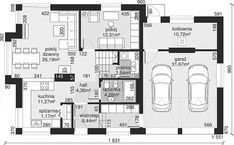 Projekt Dom przy Cyprysowej 15 K4 154,2 m2 - koszt budowy - EXTRADOM Design Case, Planer, House Plans, Sweet Home, Floor Plans, House Design, Flooring, Lights, How To Plan