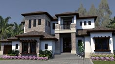House Plan 71537 | Florida Mediterranean Plan with 5218 Sq. Ft., 4 Bedrooms, 6 Bathrooms, 3 Car Garage