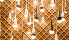 Ice cream cone lighting cluster \\\ Photo by George Etheredge — The New York Times/Redux