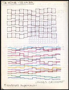 Atlas génératif et stich up graphique, Vera Molnar